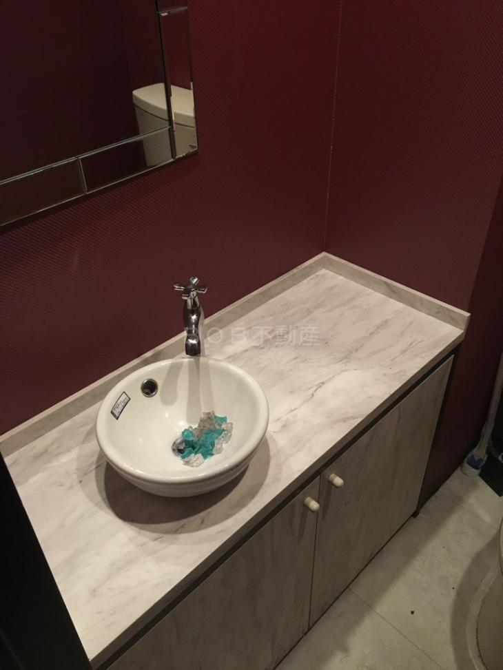 トイレ内の洗面台の画像
