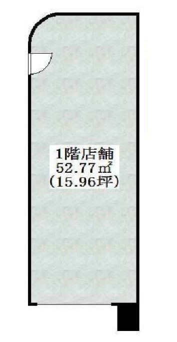 15.96坪と記載された縦長の間取りのイメージ図